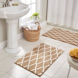 Mohawk Horizon Pueblo Bath Rug 1 9 X 2 10 Tan Brown Mohawk Home In 2020 Mohawk Home Bath Rug Washroom Decor