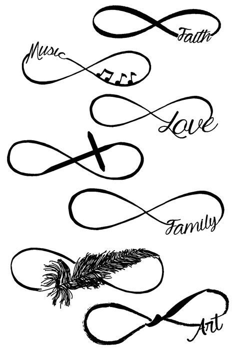 Infinity 1 Clear Stamps Tattoo Flash Tatuaże Tatuaż I