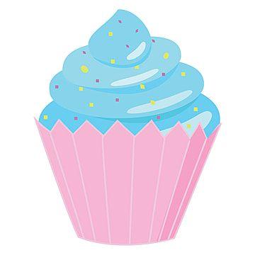 Vector De Ilustracion De Cupcake Sobre Fondo Blanco Imagenes Predisenadas De Magdalenas Pastel Vector Png Y Vector Para Descargar Gratis Pngtree In 2021 Cupcake Illustration White Background Glassware