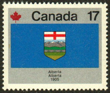 Alberta Canada Day Flag Stamp Philately