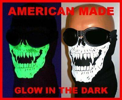 Advertisement(eBay) American Made Glow in the Dark Skull Vampire Fangs Face Ski Mask With VELCRObran
