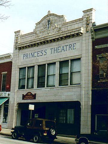 Princess Theatre Bloomington, Indiana. This site takes you to all the historic structures in Bloomington.