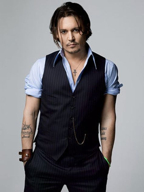Johnny Depp in Stripes Waistco... is listed (or ranked) 3 on the list Hot Johnny Depp Photos
