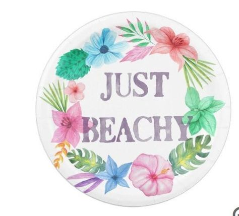 Tropical Theme Paper Plates For Luau Beach Party Paper Plates