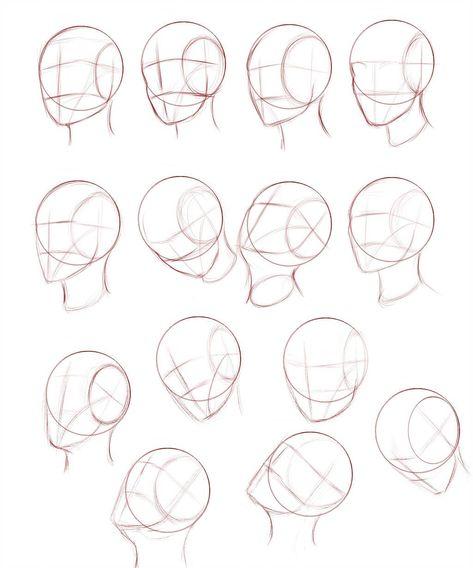 Heads Tutorial Link by Ecchi-Senshi on DeviantArt #''facedrawing''