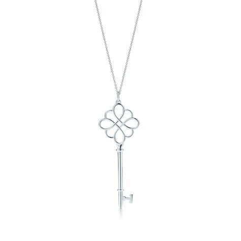 c53735ae2 Tiffany Keys knot key pendant in sterling silver on a chain.