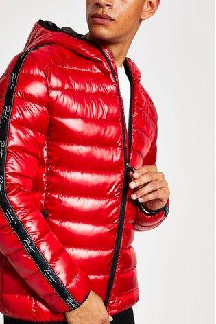 Mens Coats Red Jacket Winter Coat, Mens Winter Coats Uk River Island