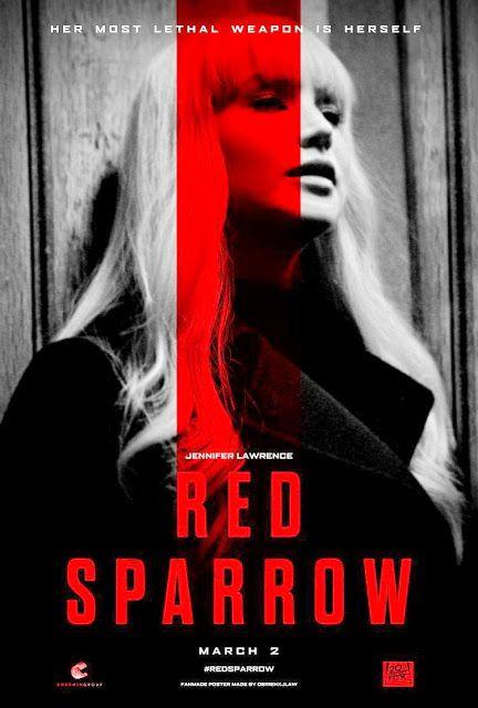 RED SPARROW  Cartel de Estados Unidos  GORRIÓN ROJO  Red Sparrow