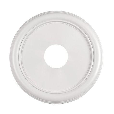 Portfolio 16 In X 16 In White Composite Ceiling Medallion At Lowes
