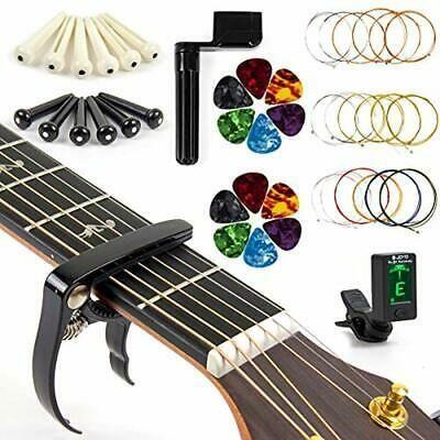 Acoustic Guitar Strings Changing Kit Tool Strings Tuner In 2020 Acoustic Guitar Strings Electric Guitar Accessories Guitar Strings