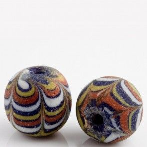 Ancient East Java Pelangi Jatim bead replica 16x18mm