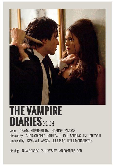 minimal movie posters vampire diaries