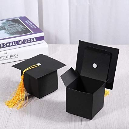 Amazon Com Joffreg 50 Paquetes De Caja De Regalo Con Forma De Tapa De Graduacion Papel Kraft Ne Mini Suculentas Lembrancinha Ideias Para Festas Diy Formatura