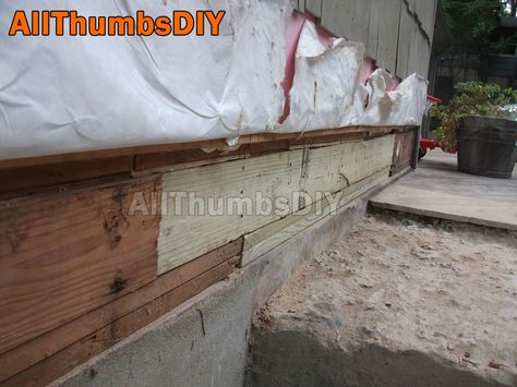 How I Replaced A Rotted Rim Joist And Sill Plates Part 4 Of 4 Home Repair Home Maintenance Home Repairs