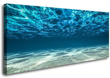 Amazon Com S00750 Print Artwork Blue Ocean Sea Wall Art Canvas