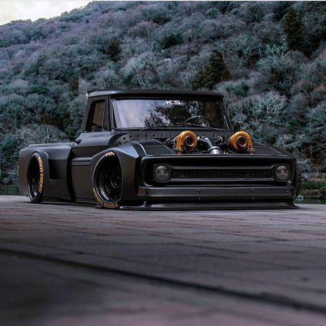 66 super ideas for custom cars and trucks ideas rat rods Chevy C10, Chevy Trucks, Pickup Trucks, Dually Trucks, Rat Rod Pickup, Chevy Pickups, Hot Rod Trucks, Cool Trucks, Cool Cars