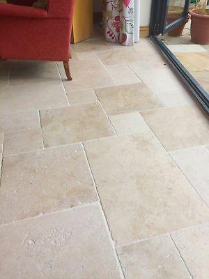Ivory Travertine Floor Tiles