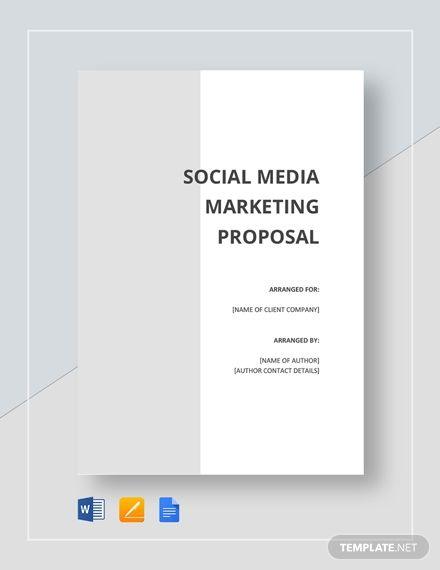 Social Media Proposal Proposal Templates Social Media Strategy