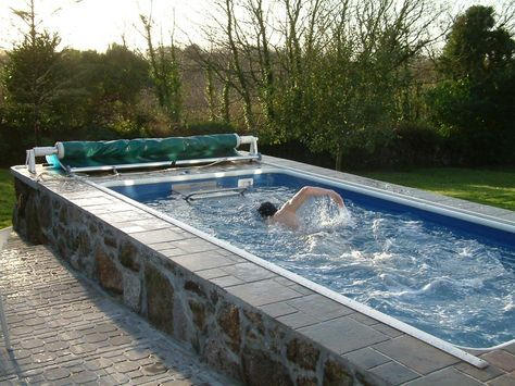 Swim At Home Year Round With An Endless Pool Endless Pool Endless Pool Backyard Luxury Swimming Pools