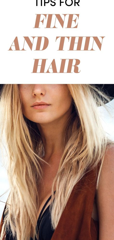 Fine Hair Tips and Styling Guide - Best Products for Fine Hair #hairideas #hairstyles