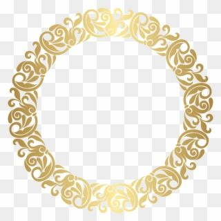 Gold Round Border Frame Png Clip Art ف Free Round Border Png Transparent Png Flower Border Clipart Clip Art Round Border