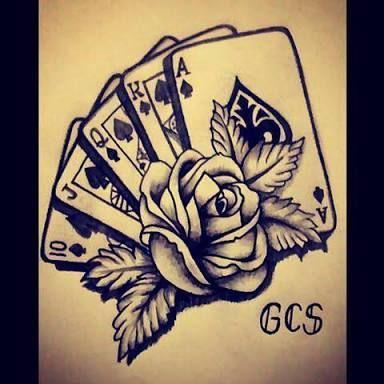Resultado de imagem para desenho cartas tattoo