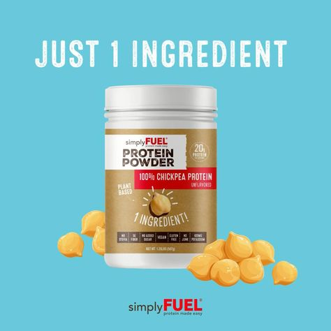 A delicious 1-ingredient plant based protein powder. Provides 20 grams protein, 5 grams of fiber and 620 mg potassium.