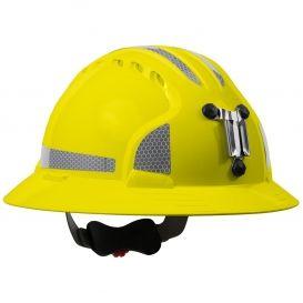Jsp Evolution 6161mcr2 Deluxe Full Brim Reflective Mining Hard Hat Wheel Ratchet Suspension Hi Viz Lime Reflective Clothing Hard Hat Reflective