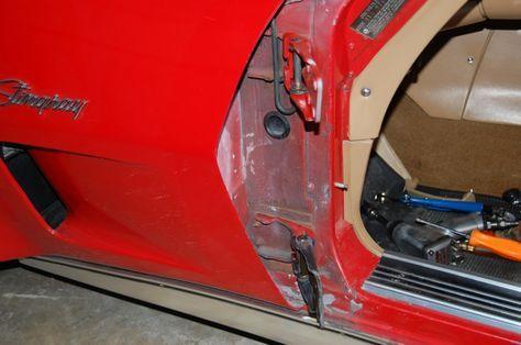 1968 82 Corvette Door Hinge And Window Repair Cc Tech Door Hinge Repair Corvette Door Hinges