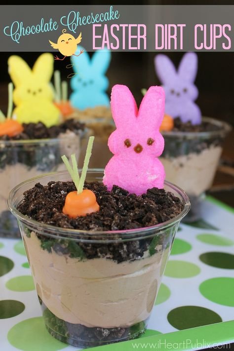 Easy Easter Dirt Cake: An easy, festive, no-bake Easter dessert. Easter Snacks, Easter Brunch, Easter Party, Easter Treats, Easter Food, Easter Decor, Easter Centerpiece, Easter Cookies, Easter Table