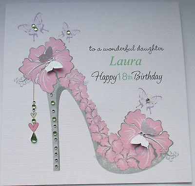 Handmade Personalised Female Birthday Card 18th 21st 30th 40th 50th 60th Zeppy Io 21st Birthday Cards 18th Birthday Cards Card Making Birthday