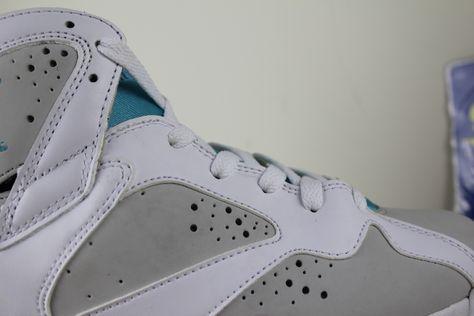 watch cafc9 16012 Detail of Air Jordan 7 Retro Easter GS, 442960-001
