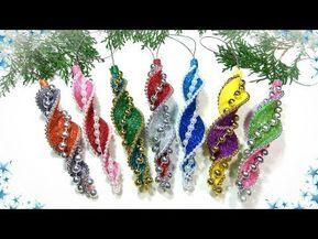 Yolochnye Igrushki Iz Foamirana Svoimi Rukami Diy Christmas Ornaments Glitter Foam Youtub Foam Christmas Ornaments Christmas Ornaments Diy Christmas Ornaments