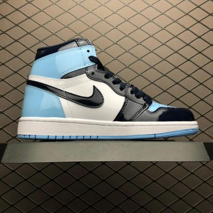 2019 New Air Jordan 1 Unc Patent Leather Shoes To Buy Girls