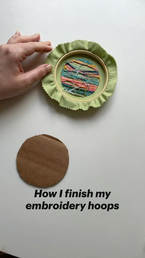 How I finish my embroidery hoops with NO sewing and NO glue!