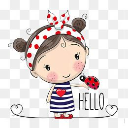 Cartoon Little Girl Cartoon Clipart Ladybug Girl Png Transparent Clipart Image And Psd File For Free Download Desenhos Animados Bonitinhos Desenhos Animados De Menina Desenhos De Animais Fofinhos