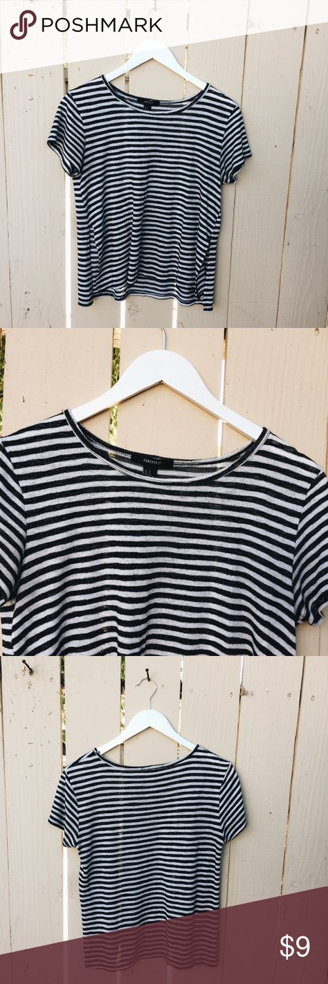 scoopneck Forever 21 Striped Shirt...