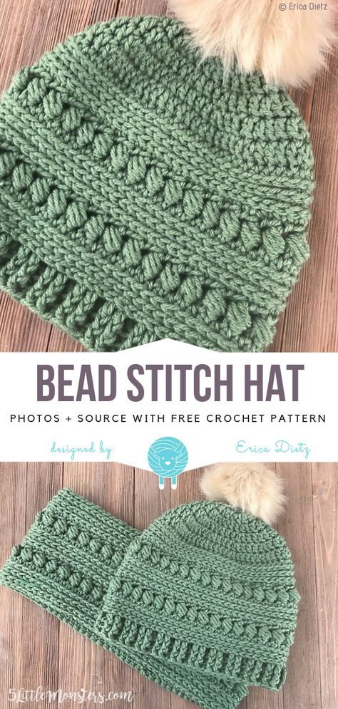 Bead Stitch Hat Free Crochet Pattern