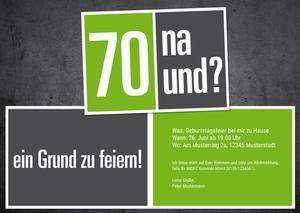 70 Na Und Einladung Zum 70 Geburtstag Individuelle Einladung