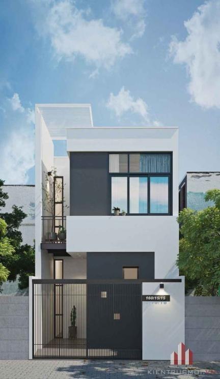 Exterior Minimalist Industrial House Design Trendecors