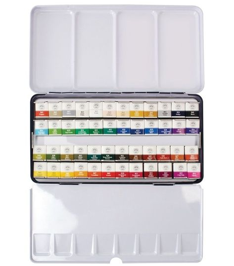 Watercolor Paint Mungyo Professional Pans Set 48 Color Mwph 48c