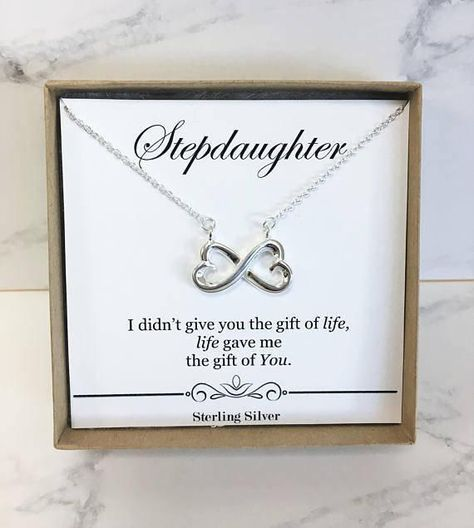 Stepdaughter Necklace Birthday Or Wedding Gift From Stepmom Stepdad Sterling Silver Present