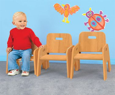 Steffy Wood Products SWP1363 Stackable Toddler Chair 11 Inch Seat Height    Woods