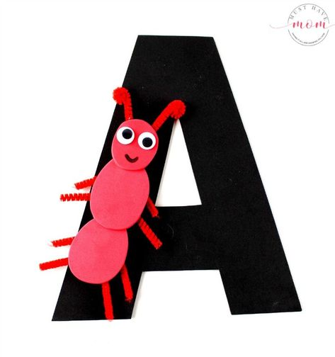 Letter of the Week preschool activities! Letter recognition Letter A craft idea with free printable letter