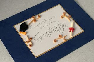 Paper Daisy: Quilled graduation card