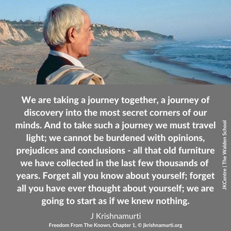 290 Think On These Things Ideas Think On Jiddu Krishnamurti Freedom From The Known