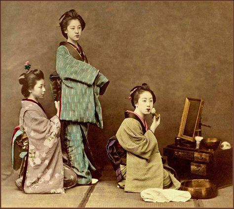 昔の日本の芸者の貴重なカラー写真(15枚)_China.org.cn | Japanese