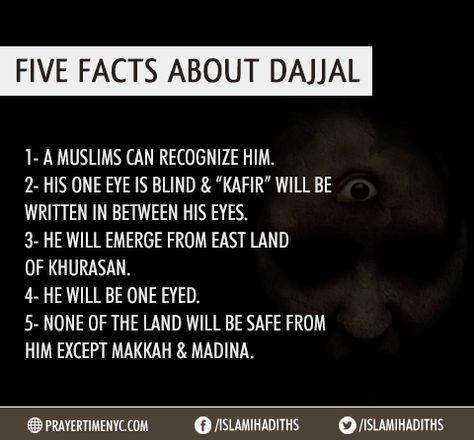 Five Facts About Dajjal (The False Messiah). #islam #dajjal #islamiceducation #muslim