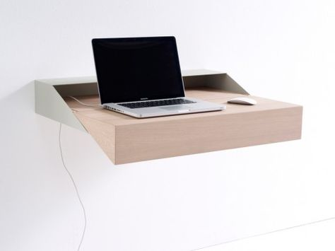 This wall mounted desk will save you space.