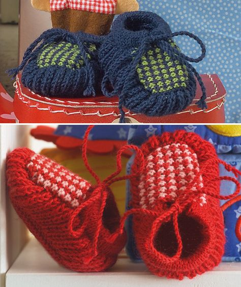 Free Pattern: A and B Baby's Booties